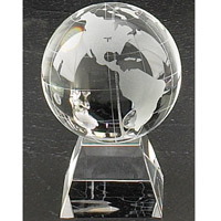 Crystal Globe Pyramid Award