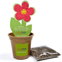 Flower Pot Planting Kit w/ Seeded Paper