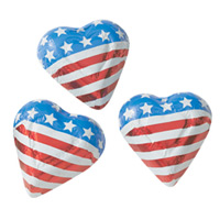 Stars and Stripes Chocolate Hearts