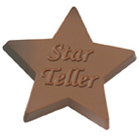 Custom Chocolate Star Award - 1oz