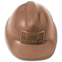 Chocolate Safety Hard Hat - 3.5 oz