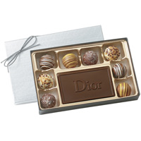 Box of 8 Chocolate Filled Truffles w/ Custom Molded Centerpiece Chocolate
