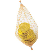 Chocolate Coins in Mesh Nets