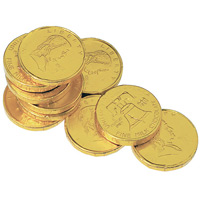 Chocolate Gold Coins - Franklin/Liberty Bell Half-Dollar