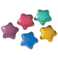 Dark Chocolate Mini-Stars - Foil Wrapped