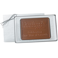 Custom Molded Chocolate Rectangle Gift Bar