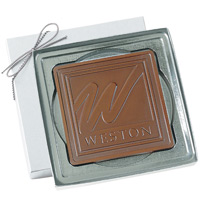Personalized Chocolate Gift Bar - Square 2.5 oz