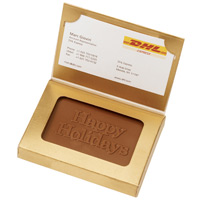 Chocolate Holiday Business Card Box