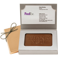 Chocolate Thank You Business Card Box