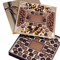 Executive Chocolate Gift Box w/ Custom Molded Chocolate, Truffles, Confections - 3.75 lbs