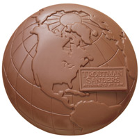 2 lb Molded Chocolate Globe