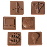 2-Piece - 1.25 oz - Custom Molded Chocolate Squares Gift Box