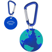 Earth Carabiner Aluminum Key Chain