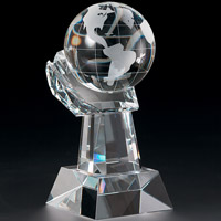 Globe in Hand Award - Small
