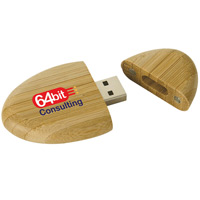 2GB Eco Bamboo USB 2.0 Flash Drive