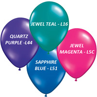 "11"" Custom Printed Helium Balloons - w/ 2-Color Imprint - Premium Colors"