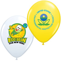 "11"" Custom Printed Balloons - Standard Colors w/ 3-5 Color Print"