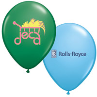 "11"" Custom Printed Balloons - Standard Colors w/ 2-Color Print"
