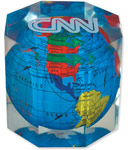 Octagon Acrylic Globe Paperweight
