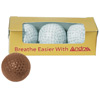 Milk Chocolate 3-Pack of Golf Balls - Standard Size