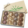 Custom Gift Box of 12 Chocolate Filled Truffles