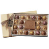 Box of 20 Chocolate Filled Truffles w/ Custom Molded Centerpiece Chocolate