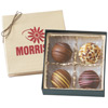 Personalized Gift Box of 4 Chocolate Filled Truffles