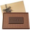 Custom 1 lb Two-Toned Chocolate Presentation Bar