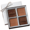 4-Piece - 2.5 oz - Custom Molded Chocolate Squares Gift Box