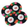 Chocolate Foil Wrapped Poker Chips - Dark Mint