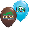 "11"" Custom Printed Helium Balloons - w/ 3-5 Color Imprint - Premium Colors"